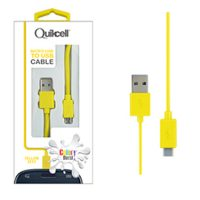 Colour Burst Charge & Sync Coi led Micro USB Cable Yellow
