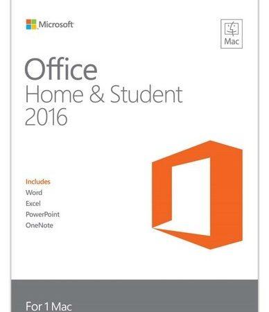 Microsoft Office 2016 Home & Student Mac English