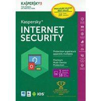 Kaspersky Internet Security 2017 3-User 18 Month BIL