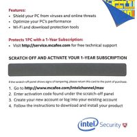 McAfee Antivirus Plus 1-User 1-Year Hangcard