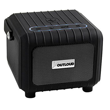Lyrix Outloud Bluetooth Outdoor Tailgate Speaker Black