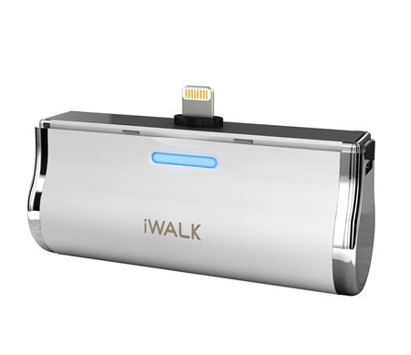 iWalk Link 3000mah Batt Dock w/Lightning MFI Connect Wht