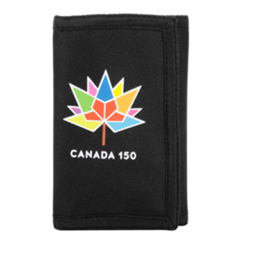 Canada 150 Trifold Wallet Black Nylon