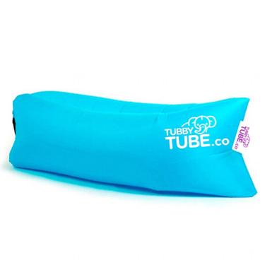 TubbyTube Inflatable Air Tube 3 Pockets Blue