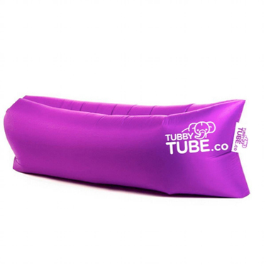 TubbyTube Inflatable Air Tube 3 Pockets Purple