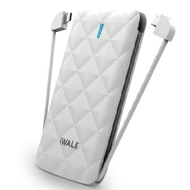 iWalk Duo 3000mah Battery w/ builtin Lightning & Micro Wht
