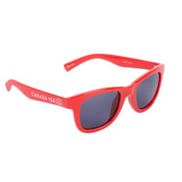 Canada 150 Adult Wayfarer Sunglasses Red Plastic