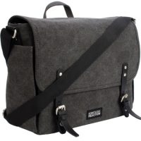Kenneth Cole Reaction Laptop Messenger Canvas 15in Charcoal