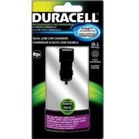 Duracell Car Charger Pro Dual USB 3.1 Amp Black