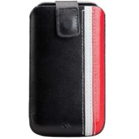 Case-Mate Univ Small Blk/Red Leather Racing Case