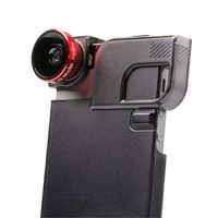 Olloclip iPhone 5/5S/SE 4-in-1 Red Lens/Blk Clip/Blk Case