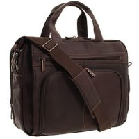 Kenneth Cole Columbian Leather 15.4in Laptop Leather Brown