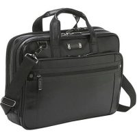 Kenneth Cole Florencia Leather Portfolio Case Black 16in