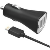 Digipower Car Charger 3.4amp InstaSense 2Port Lightg