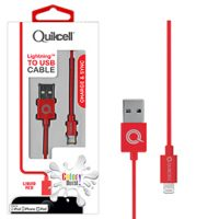 Colour Burst Charge & Sync Lightning Cable MFI Red