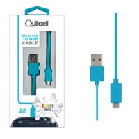 Colour Burst Charge & Sync Micro USB Cable Blue