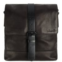 Kenneth Cole Columbian Single Gusset Leather Daybag Brown