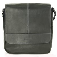 Kenneth Cole Reaction Single Gusset Flapover Tablet Bag Blk