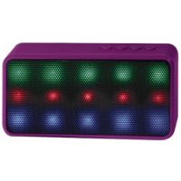 Lyrix Prysm Bluetooth LED 3W Speaker Purple