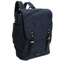 Kenneth Cole Reaction Backpack Flapover Canvas 14.1in Navy