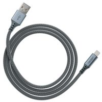 Ventev Charge & Sync Lightning Cable 4ft Alloy Steel Gray