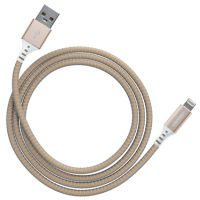 Ventev Charge & Sync Lightning Cable 4ft Alloy Gold