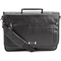 Kenneth Cole Florencia Leather Flapover Bag Black