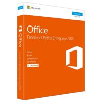 Microsoft Office 2016 Famille et Petite Entreprise PC French