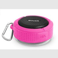 Bower Bluetooth Speaker Rugged IPX4 Waterproof w/ Mic Pink