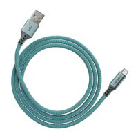 Ventev Charge & Sync USB-A to USB-C 2.0 Cable 3ft Aqua