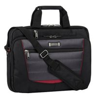 Kenneth Cole Laptop Bag Sport TopZip Black/Red Double Gusset