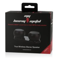 My Heavy Metal Bluetooth Spkr Stereo Black - 2 Speakers