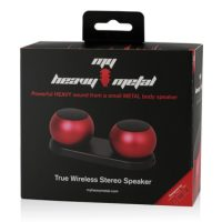 My Heavy Metal Bluetooth Spkr Stereo Red - 2 Speakers