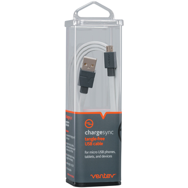 Ventev Charge & Sync USB-A to USB-C 2.0 Cable 3ft White