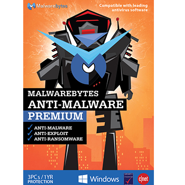 Malwarebytes Premium v3 3-User 1 Year Tech Edition BIL