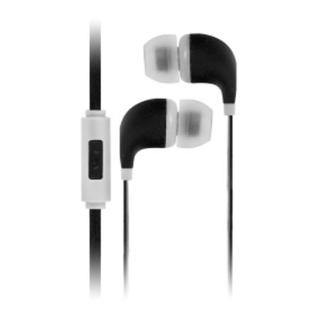 Colour Burst Handsfree Earbuds w/Noise Cancelling Mic Black