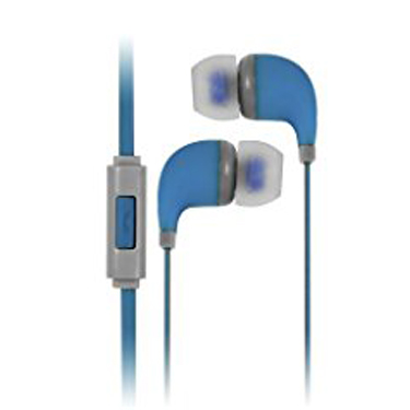 Colour Burst Handsfree Earbuds w/Noise Cancelling Mic Blue
