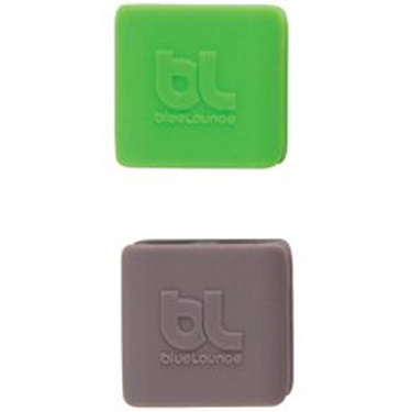 BlueLounge Cable Clips Small 6Pk (3 Green/ 3 Gray)