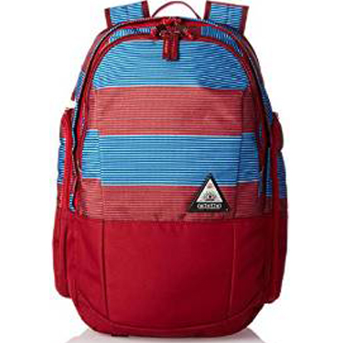 Ogio Backpack Clark Pack 15in Biggie Stripe Red/Blue