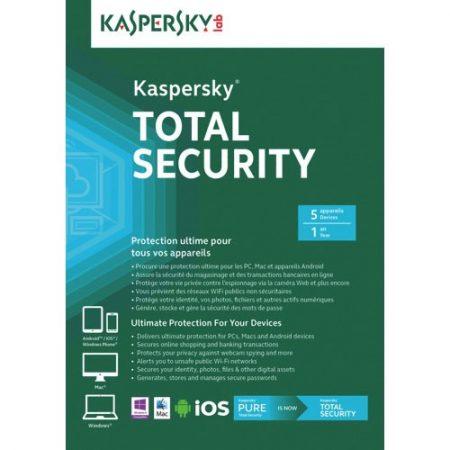 Kaspersky Total Security 2018 5-User 1-Year BIL
