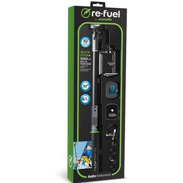 ReFuel Quikpod Power Stick w/5200mah PwrBnk/GoPro Adaptor