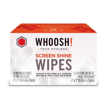 Whoosh! Screen Shine Wipes 12 Pack w/1 Cloth