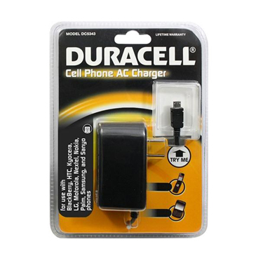 Duracell Wall Charger w/ attached Micro USB Cable Black
