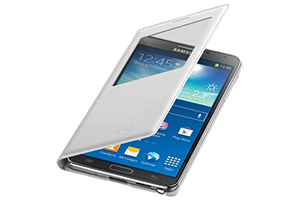 Samsung OEM Galaxy Note 3 S View Leather Cover White