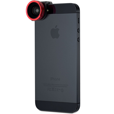 Olloclip iPhone 5/5S/SE 4-in-1 w/Red Lens and Black Clip