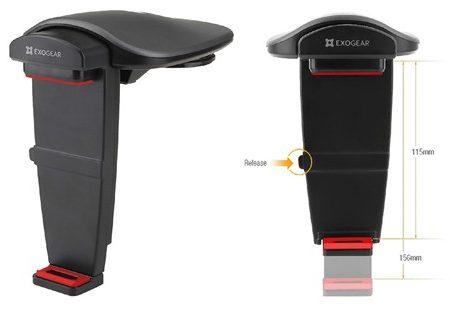 ExoMount Tablet & Smartphone Dashboard Mount 5-8in