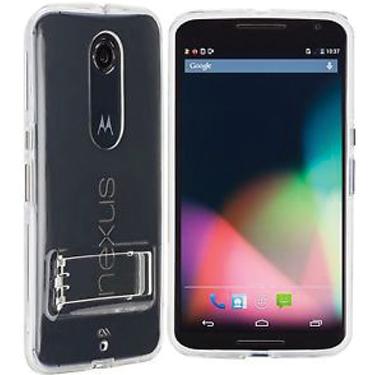 Case-Mate Motorola Nexus 6 Clear Naked Tough w/Stand