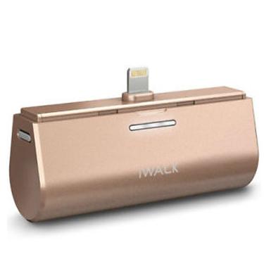 iWalk Link 3000mah Batt Dock w/Lightning MFI Connect Gld