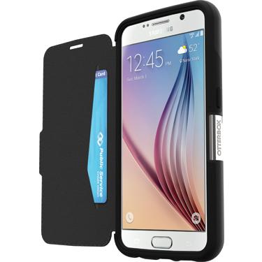 OtterBox Galaxy S6 Strada Black/Dark Grey Leather