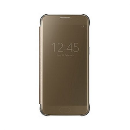 Samsung OEM Galaxy S7 Clear View Cover Gold